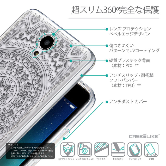 Details in Japanese - CASEiLIKE Xiaomi Redmi Note 2 back cover Indian Line Art 2063