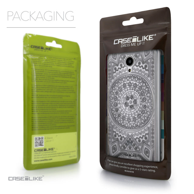 Packaging - CASEiLIKE Xiaomi Redmi Note 2 back cover Indian Line Art 2063