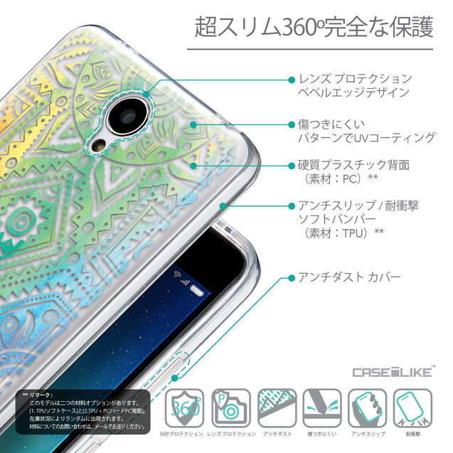 Details in Japanese - CASEiLIKE Xiaomi Redmi Note 2 back cover Indian Line Art 2064