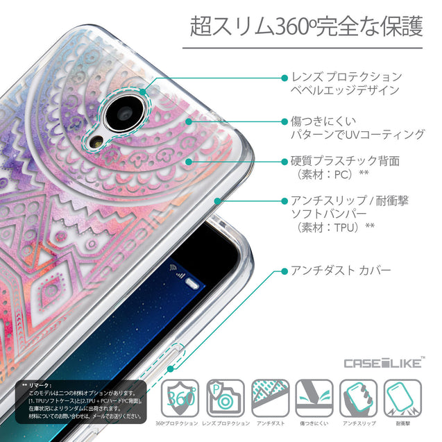 Details in Japanese - CASEiLIKE Xiaomi Redmi Note 2 back cover Indian Line Art 2065