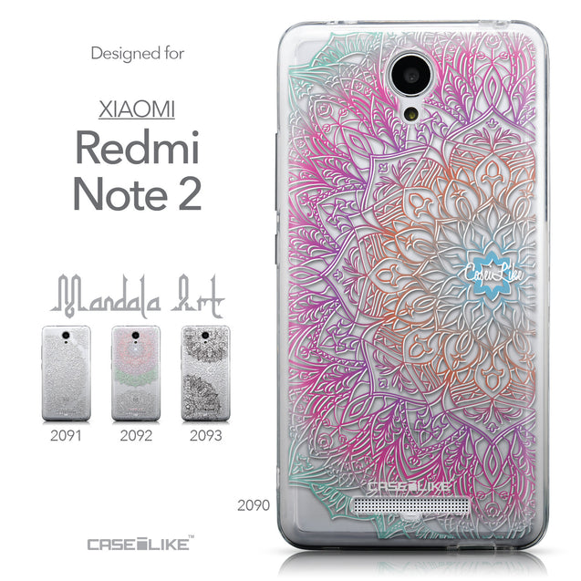 Collection - CASEiLIKE Xiaomi Redmi Note 2 back cover Mandala Art 2090
