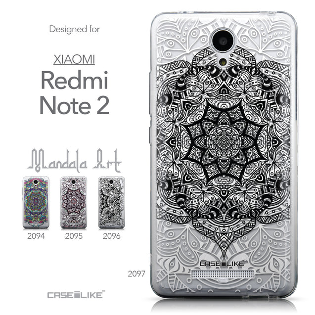 Collection - CASEiLIKE Xiaomi Redmi Note 2 back cover Mandala Art 2097