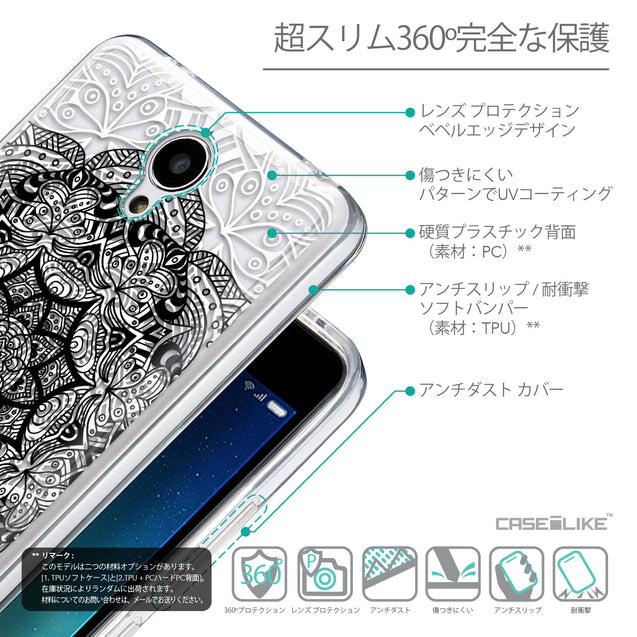 Details in Japanese - CASEiLIKE Xiaomi Redmi Note 2 back cover Mandala Art 2097