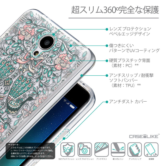 Details in Japanese - CASEiLIKE Xiaomi Redmi Note 2 back cover Roses Ornamental Skulls Peacocks 2226