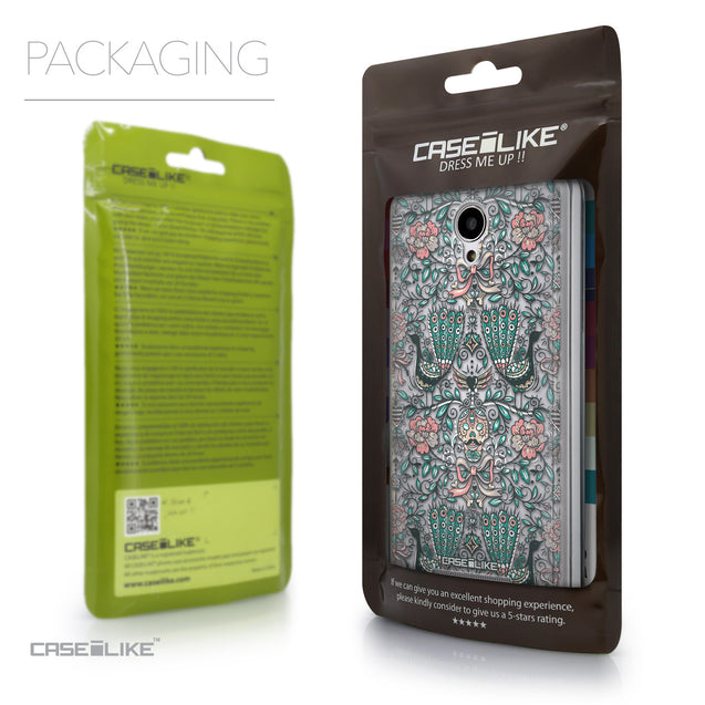 Packaging - CASEiLIKE Xiaomi Redmi Note 2 back cover Roses Ornamental Skulls Peacocks 2226