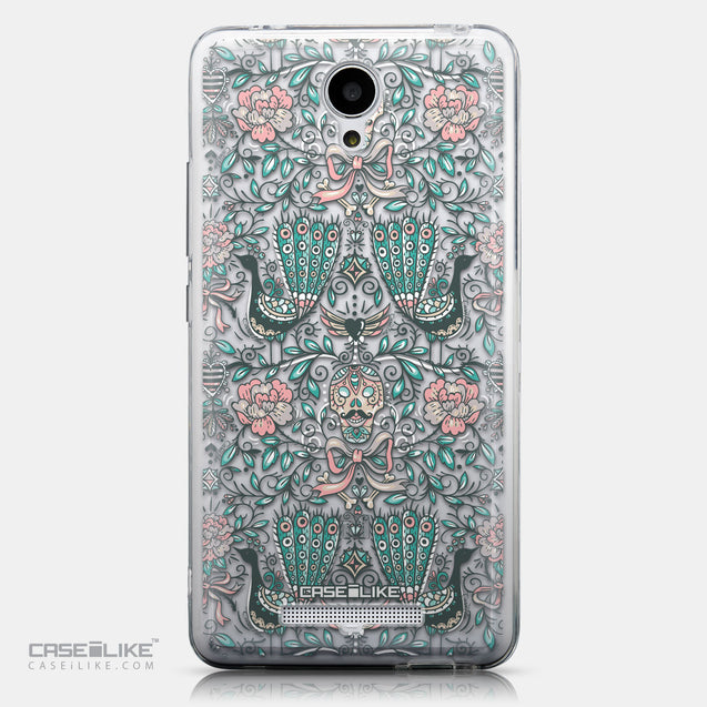 CASEiLIKE Xiaomi Redmi Note 2 back cover Roses Ornamental Skulls Peacocks 2226