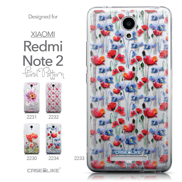 Collection - CASEiLIKE Xiaomi Redmi Note 2 back cover Watercolor Floral 2233