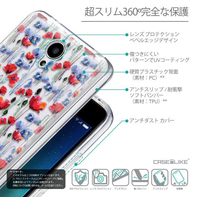 Details in Japanese - CASEiLIKE Xiaomi Redmi Note 2 back cover Watercolor Floral 2233
