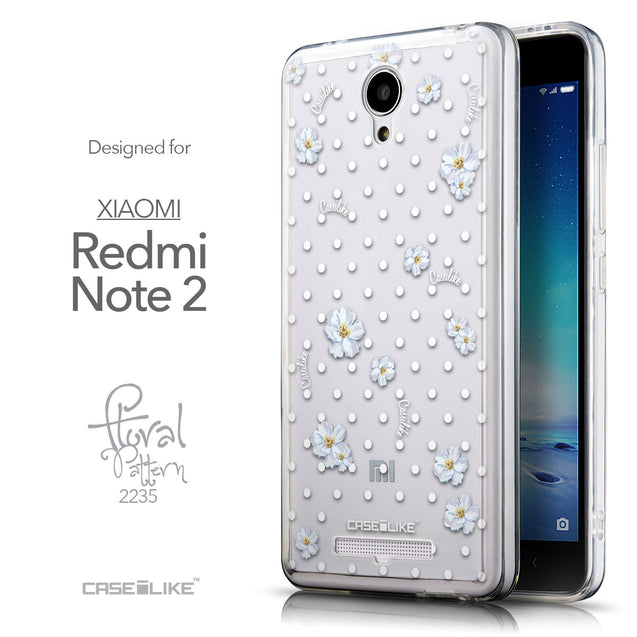 Front & Side View - CASEiLIKE Xiaomi Redmi Note 2 back cover Indian Line Art 2061
