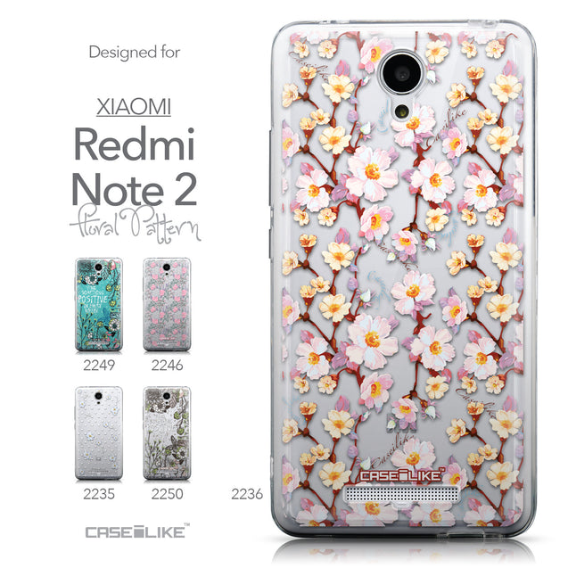Collection - CASEiLIKE Xiaomi Redmi Note 2 back cover Watercolor Floral 2236