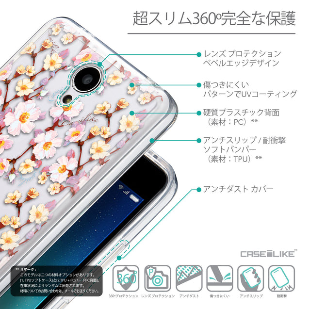 Details in Japanese - CASEiLIKE Xiaomi Redmi Note 2 back cover Watercolor Floral 2236