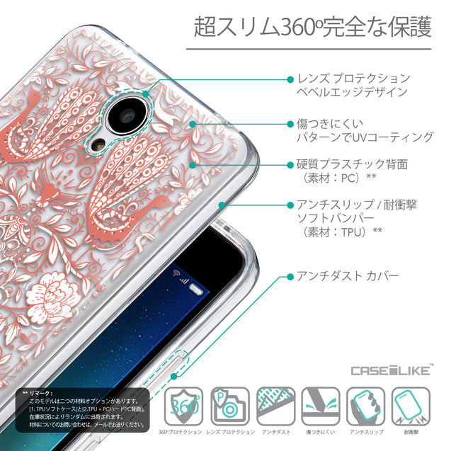 Details in Japanese - CASEiLIKE Xiaomi Redmi Note 2 back cover Roses Ornamental Skulls Peacocks 2237