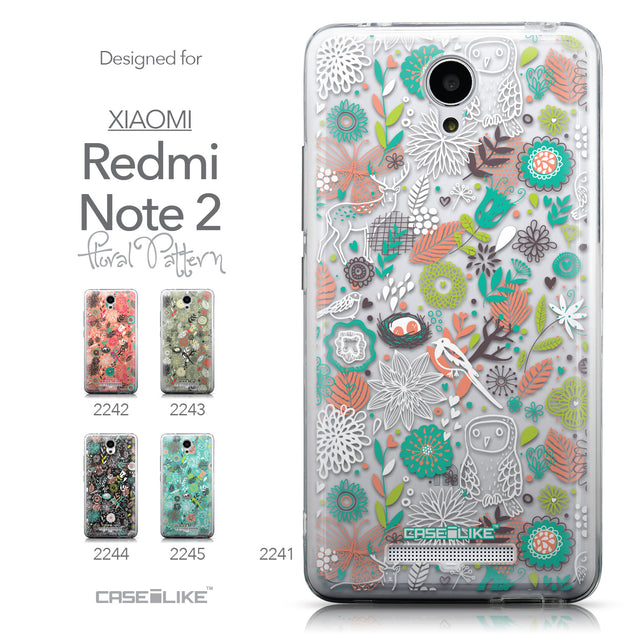 Collection - CASEiLIKE Xiaomi Redmi Note 2 back cover Spring Forest White 2241