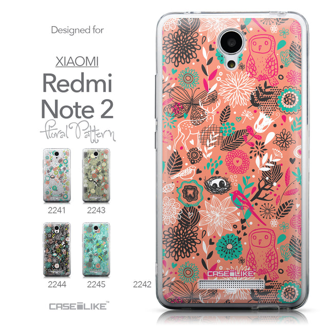 Collection - CASEiLIKE Xiaomi Redmi Note 2 back cover Spring Forest Pink 2242