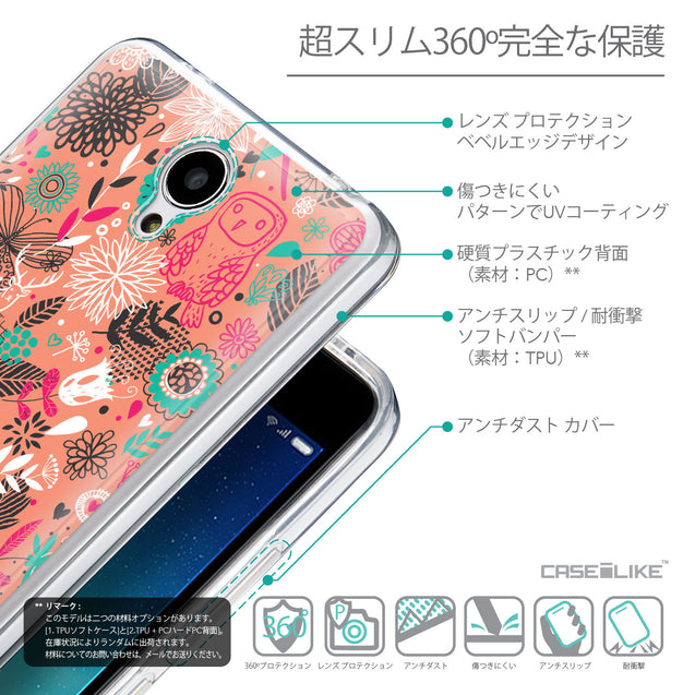 Details in Japanese - CASEiLIKE Xiaomi Redmi Note 2 back cover Spring Forest Pink 2242