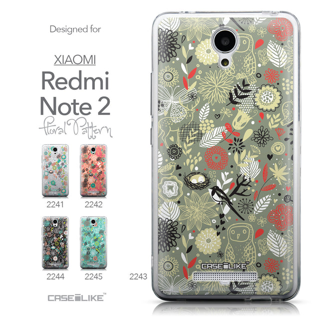 Collection - CASEiLIKE Xiaomi Redmi Note 2 back cover Spring Forest Gray 2243