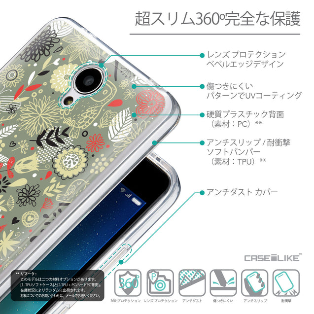 Details in Japanese - CASEiLIKE Xiaomi Redmi Note 2 back cover Spring Forest Gray 2243