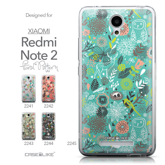 Collection - CASEiLIKE Xiaomi Redmi Note 2 back cover Spring Forest Turquoise 2245