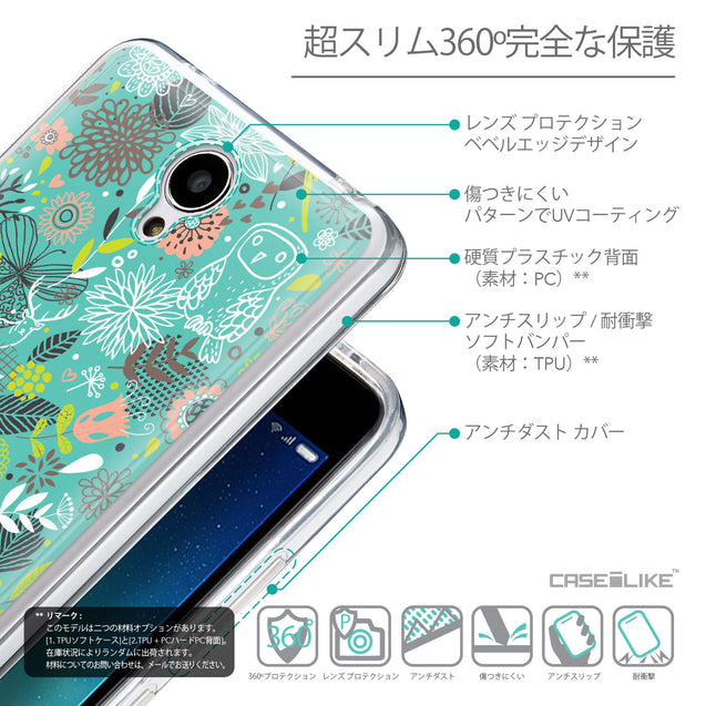 Details in Japanese - CASEiLIKE Xiaomi Redmi Note 2 back cover Spring Forest Turquoise 2245