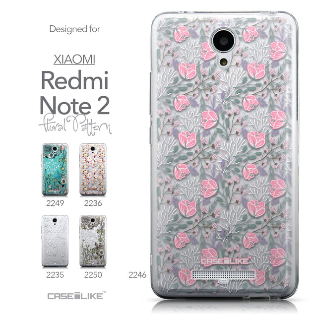 Collection - CASEiLIKE Xiaomi Redmi Note 2 back cover Flowers Herbs 2246
