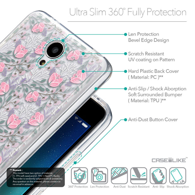 Details in English - CASEiLIKE Xiaomi Redmi Note 2 back cover Flowers Herbs 2246