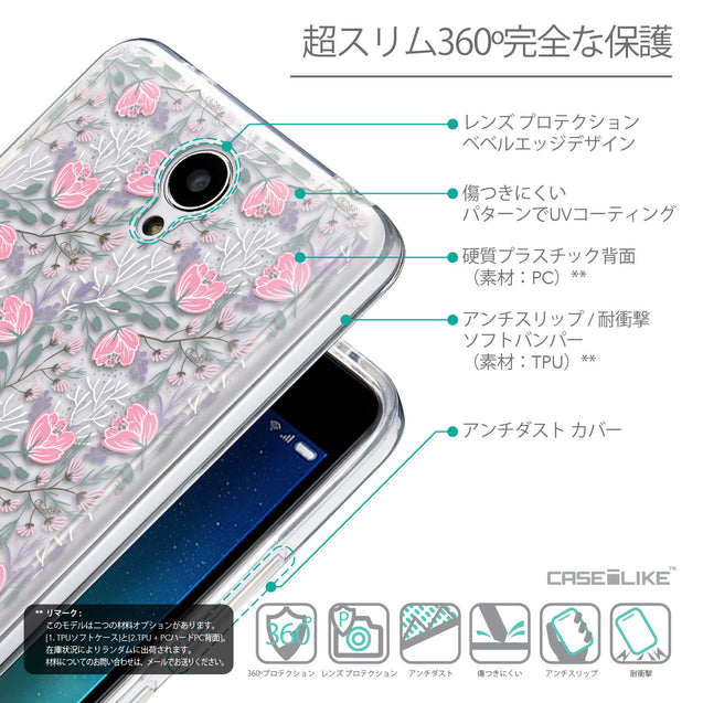 Details in Japanese - CASEiLIKE Xiaomi Redmi Note 2 back cover Flowers Herbs 2246