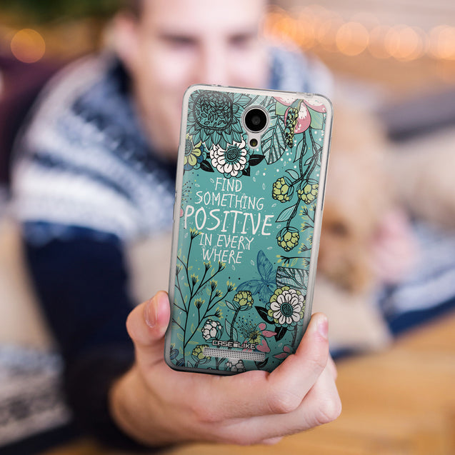 Share - CASEiLIKE Xiaomi Redmi Note 2 back cover Blooming Flowers Turquoise 2249
