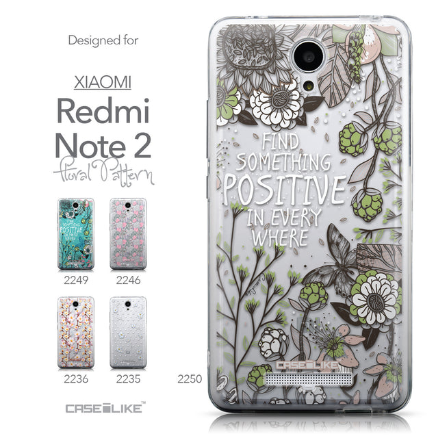 Collection - CASEiLIKE Xiaomi Redmi Note 2 back cover Blooming Flowers 2250