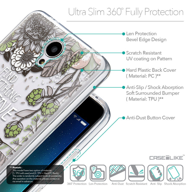 Details in English - CASEiLIKE Xiaomi Redmi Note 2 back cover Blooming Flowers 2250