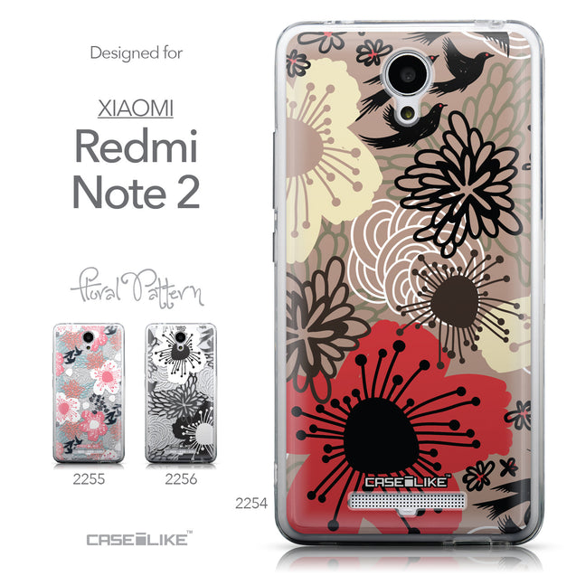 Collection - CASEiLIKE Xiaomi Redmi Note 2 back cover Japanese Floral 2254