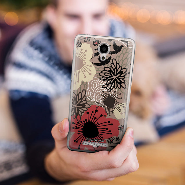 Share - CASEiLIKE Xiaomi Redmi Note 2 back cover Japanese Floral 2254