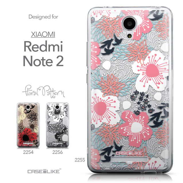 Collection - CASEiLIKE Xiaomi Redmi Note 2 back cover Japanese Floral 2255