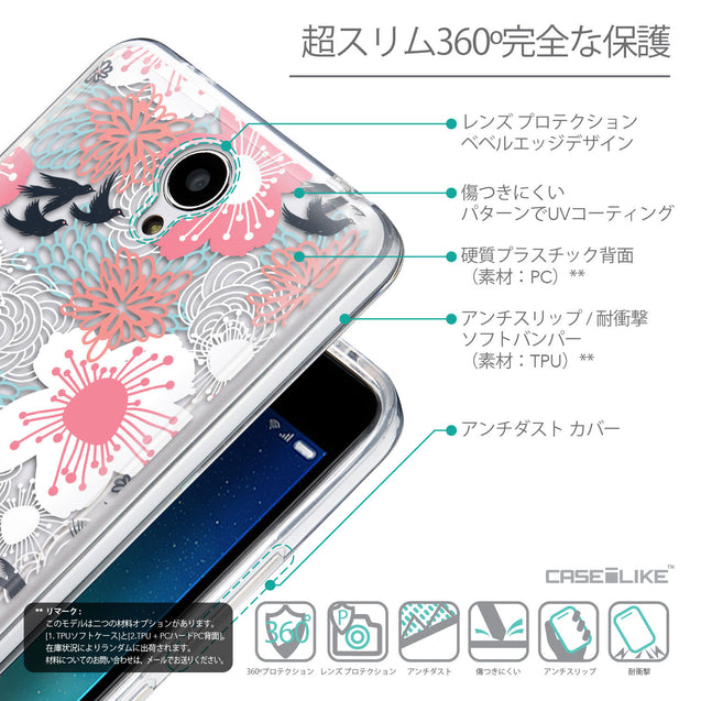 Details in Japanese - CASEiLIKE Xiaomi Redmi Note 2 back cover Japanese Floral 2255