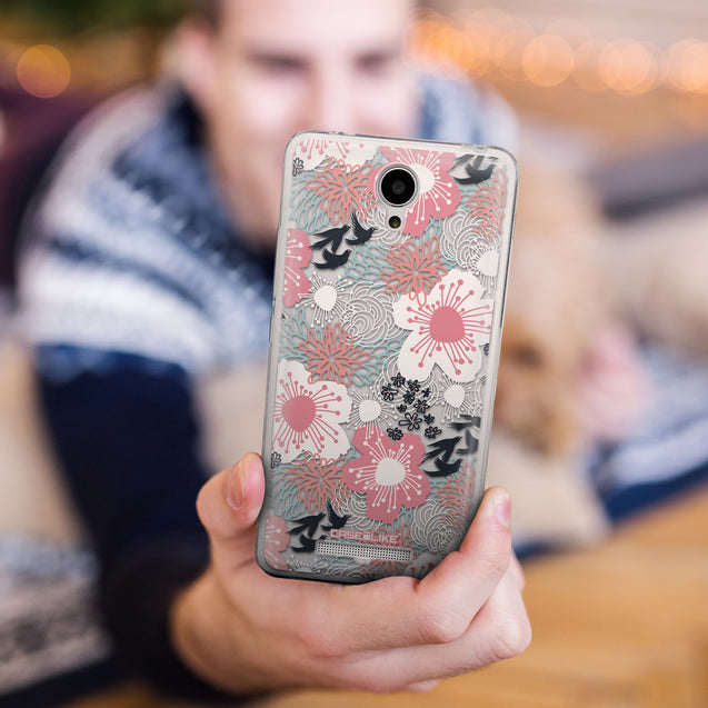Share - CASEiLIKE Xiaomi Redmi Note 2 back cover Japanese Floral 2255
