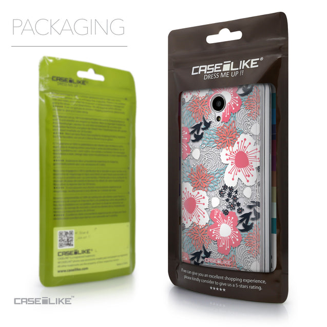 Packaging - CASEiLIKE Xiaomi Redmi Note 2 back cover Japanese Floral 2255