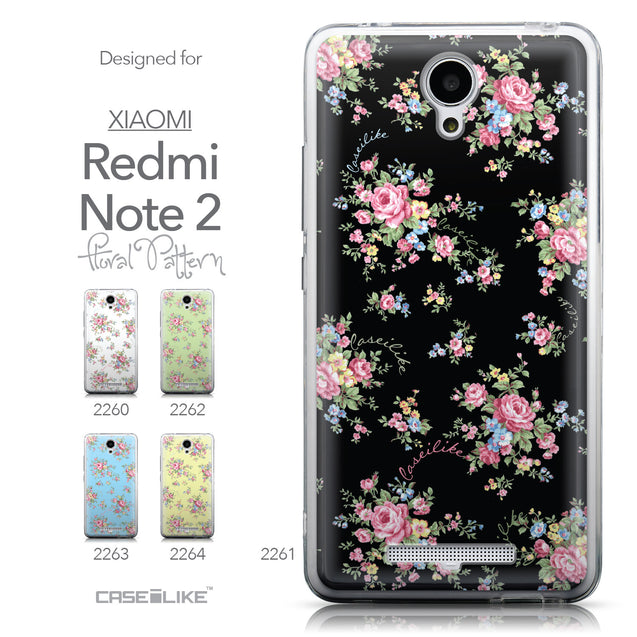 Collection - CASEiLIKE Xiaomi Redmi Note 2 back cover Floral Rose Classic 2261