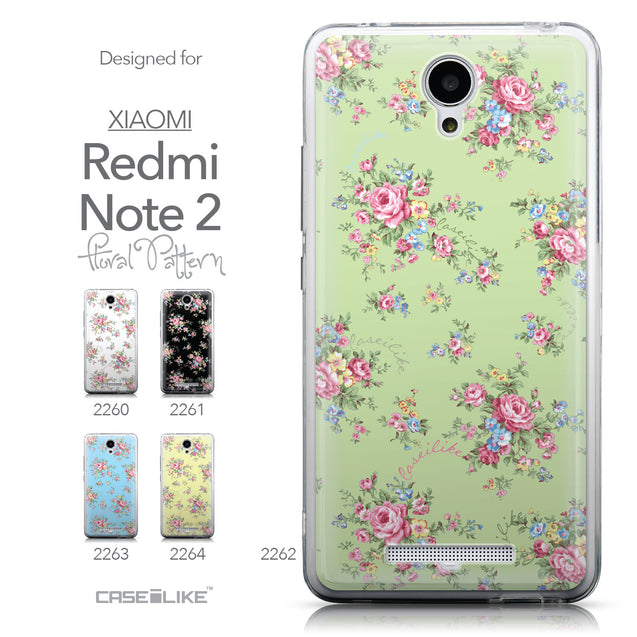 Collection - CASEiLIKE Xiaomi Redmi Note 2 back cover Floral Rose Classic 2262