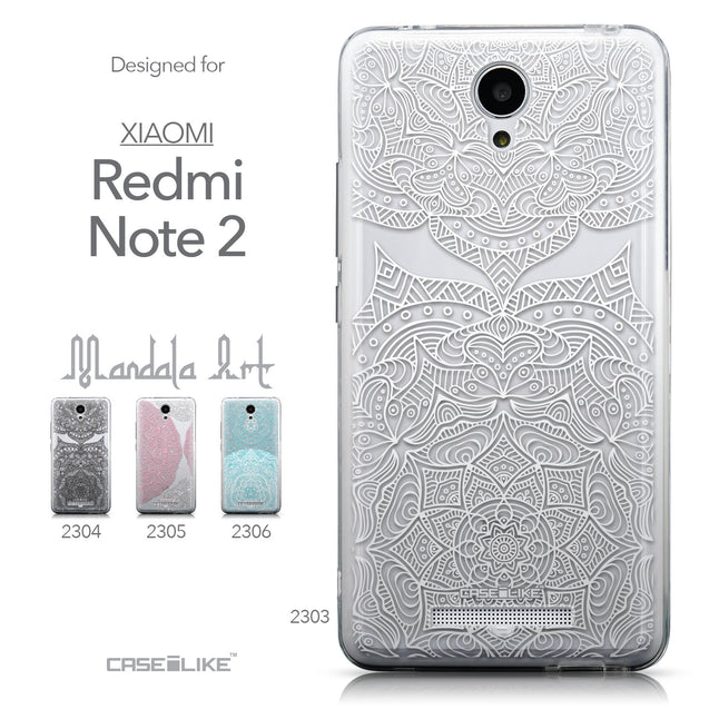 Collection - CASEiLIKE Xiaomi Redmi Note 2 back cover Mandala Art 2303