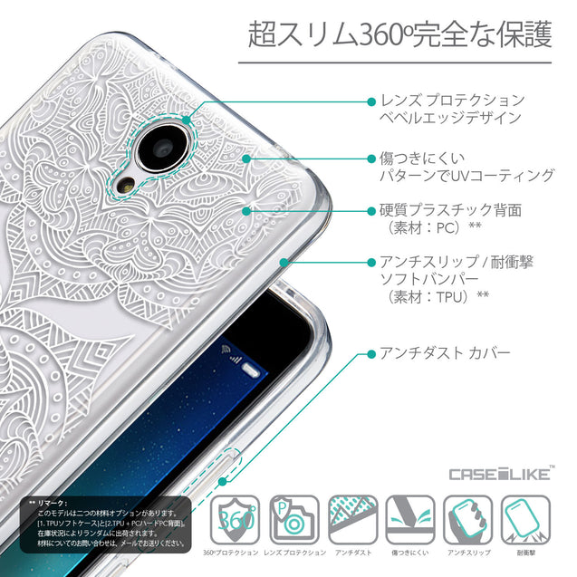 Details in Japanese - CASEiLIKE Xiaomi Redmi Note 2 back cover Mandala Art 2303