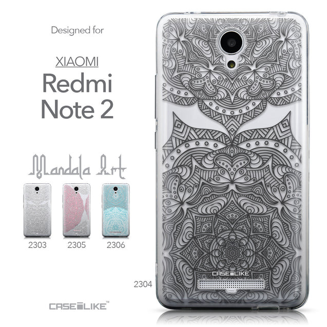 Collection - CASEiLIKE Xiaomi Redmi Note 2 back cover Mandala Art 2304