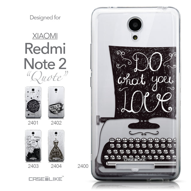 Collection - CASEiLIKE Xiaomi Redmi Note 2 back cover Quote 2400