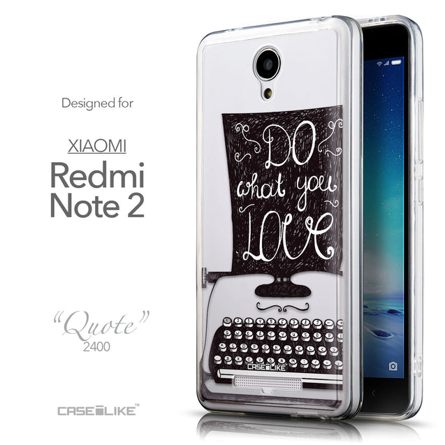 Front & Side View - CASEiLIKE Xiaomi Redmi Note 2 back cover Quote 2400