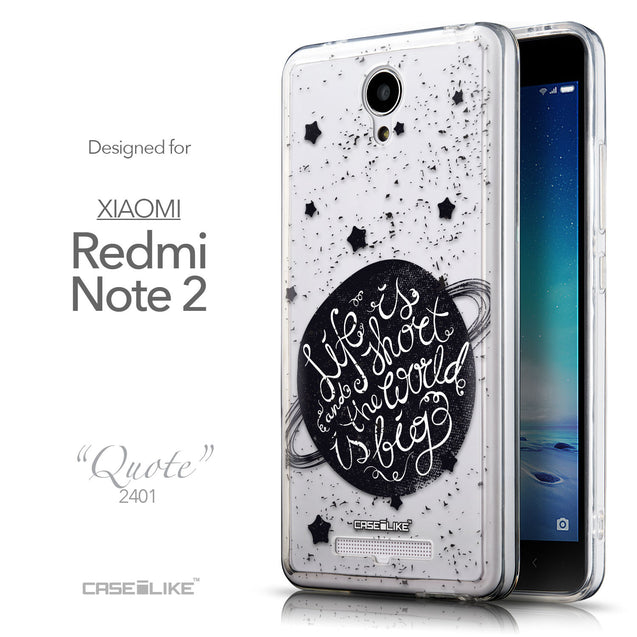 Front & Side View - CASEiLIKE Xiaomi Redmi Note 2 back cover Quote 2401