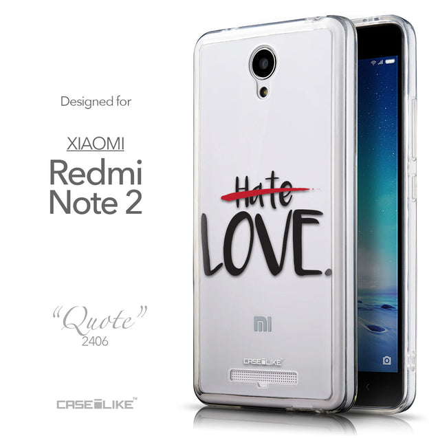 Front & Side View - CASEiLIKE Xiaomi Redmi Note 2 back cover Quote 2406