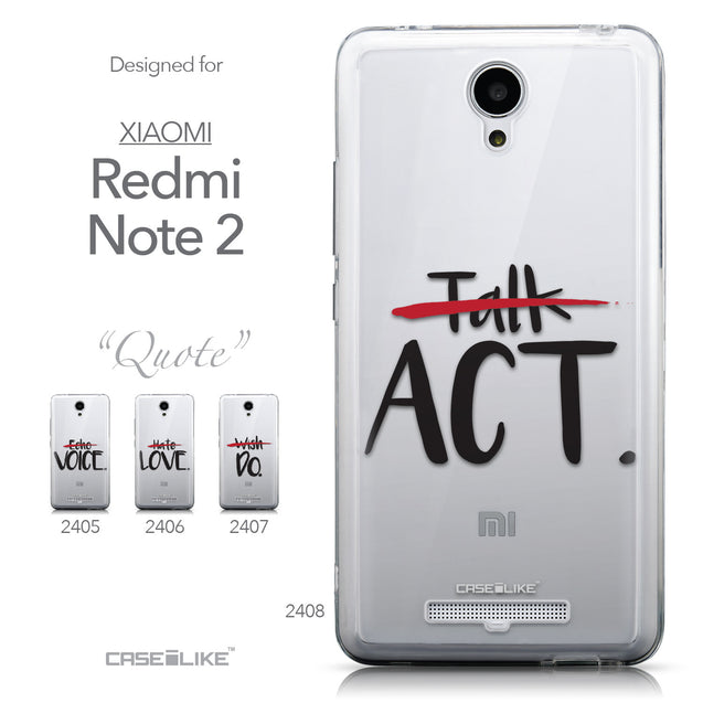 Collection - CASEiLIKE Xiaomi Redmi Note 2 back cover Quote 2408
