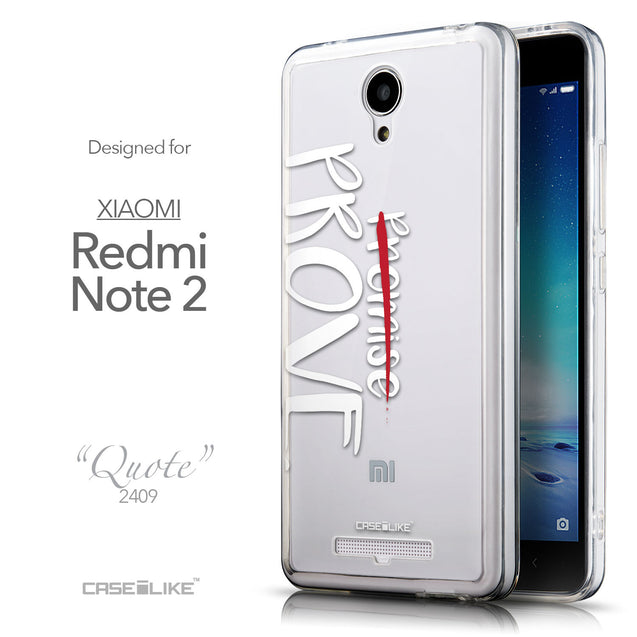 Front & Side View - CASEiLIKE Xiaomi Redmi Note 2 back cover Quote 2409