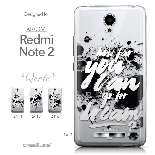 Collection - CASEiLIKE Xiaomi Redmi Note 2 back cover Quote 2413