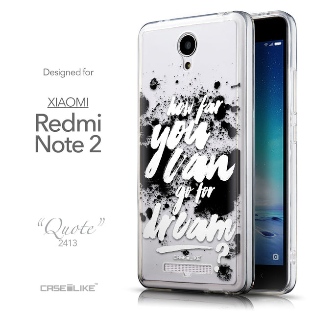 Front & Side View - CASEiLIKE Xiaomi Redmi Note 2 back cover Quote 2413