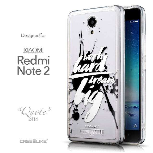 Front & Side View - CASEiLIKE Xiaomi Redmi Note 2 back cover Quote 2414