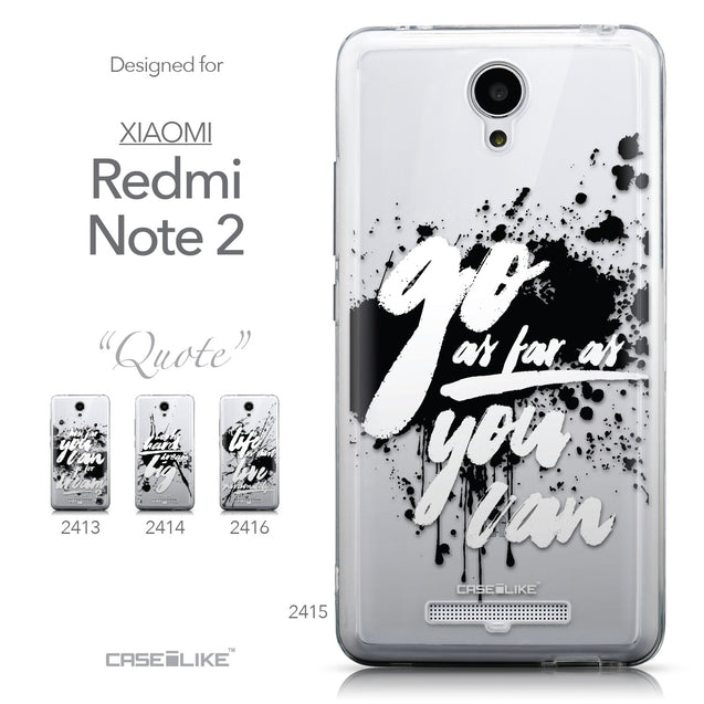 Collection - CASEiLIKE Xiaomi Redmi Note 2 back cover Quote 2415